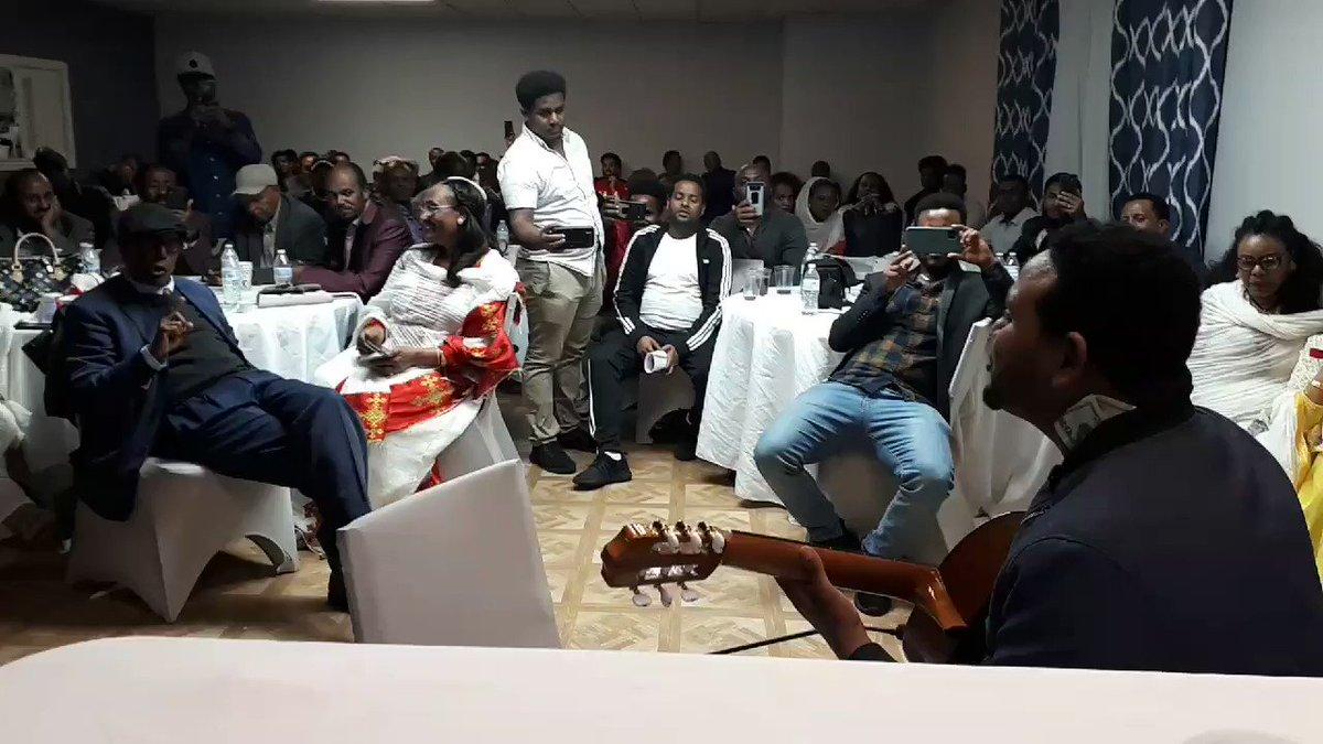 Eritreans in Dallas. Aron Eyasu is so amazing. @ERISAT3 event. #Yiakl #Eritrea