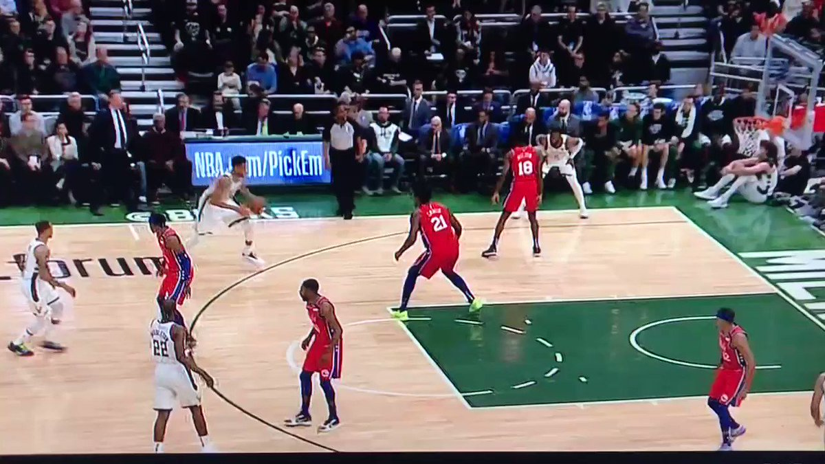 Giannis did the Macarena with the ball and didn't get called for traveling