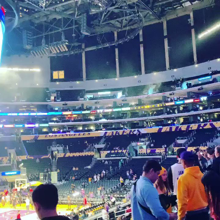 Pre game sites from @STAPLESCenter.   #celtics #lakers