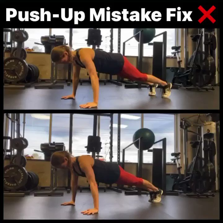 During push-ups, many people don't pay attention to what their hands are doing. This is a big mistake (top video). During push-ups, your weight should be evenly distributed throughout your full hands and fingers, not just at the base of your hands/wrists ultimatepushups.com