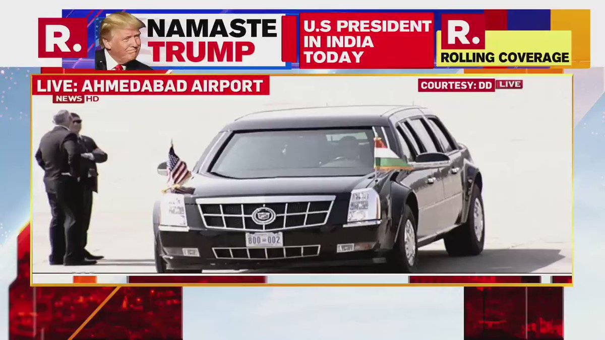 #LIVE on #NamasteTrump | PM Modi is present to welcome US President Donald Trump; tune in to watch non-stop coverage from Ahmedabad here - http://republicworld.com/livetv.html