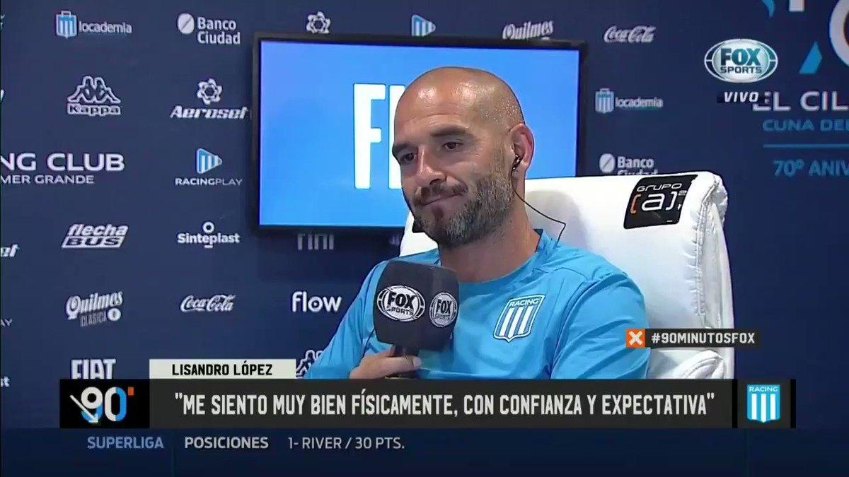 """Lisandro López: """"En Argentina sólo juego en #Racing.  Cuanto más desapercibido pase mi retiro, mejor. Vine en silencio y me voy en silencio"""".@FOXSportsArg . Este tipo la tiene clara. En la cancha y en la vida. Así le va."""