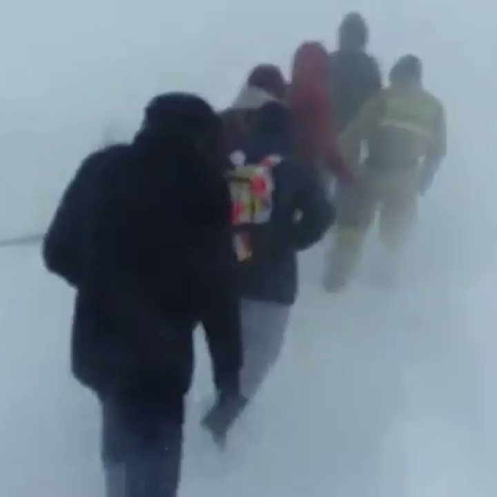 Drivers and passengers rescued from blizzard with tail-rope in #Kazakhstan