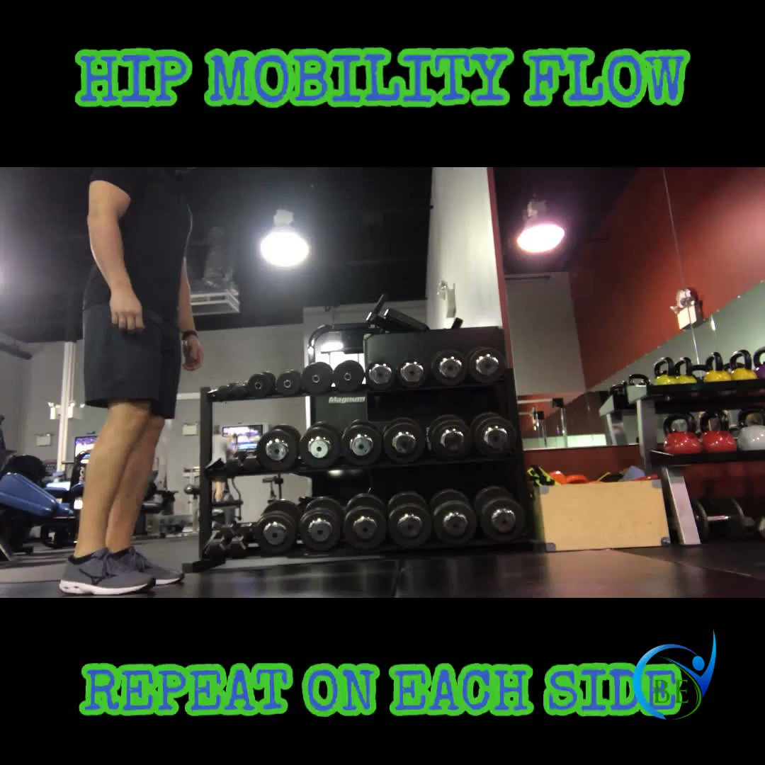 Check out this hip mobility flow from Coach Rob. Flow through as cleanly as possible on both sides. Practice makes perfect!                 #trainbe #bodyelite #bodyelitepa #gym #personaltraining #lehighvalley #allentown  #muscleandfitness #fitness #fitnessapp #training #fittips