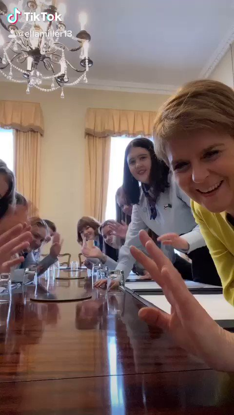 And while the girls learned so much from the First Minister today, they also got to teach her a few things too... about @tiktok_uk! We present to you, First Minister @NicolaSturgeon's first EVER foray into the Tik Tok world. Enjoy! 😂