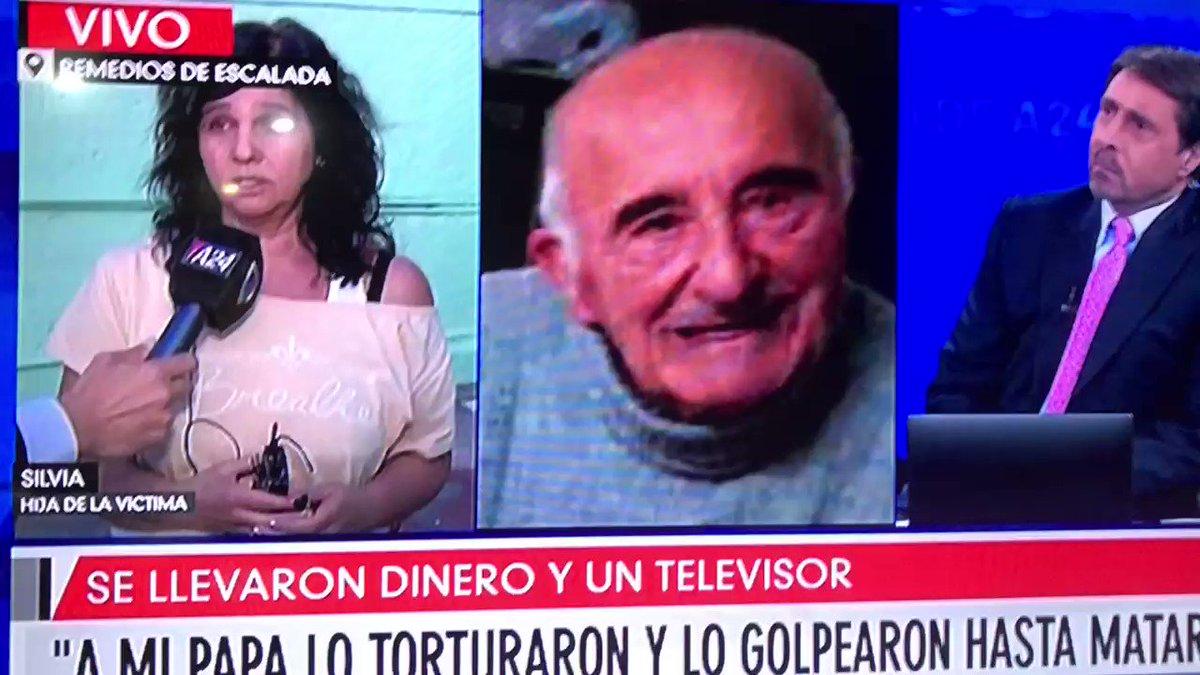 """""""A MI PAPÁ LO TORTURARON Y LO GOLPEARON HASTA MATARLO""""  89 AÑOS ERAN CONOCIDOS ERAN DEL BARRIO  ME TRAE INGRATOS RECUERDOS A MI ME PERDONARON LA VIDA  VEAMOS COMO SIGUE CON LA AUSENCIA DE PENAS Y JUECES GARANTISTAS Que FOMENTAN ESTE ACCIONAR  #BuenLunes #BuenMartes #Basta #NSB"""