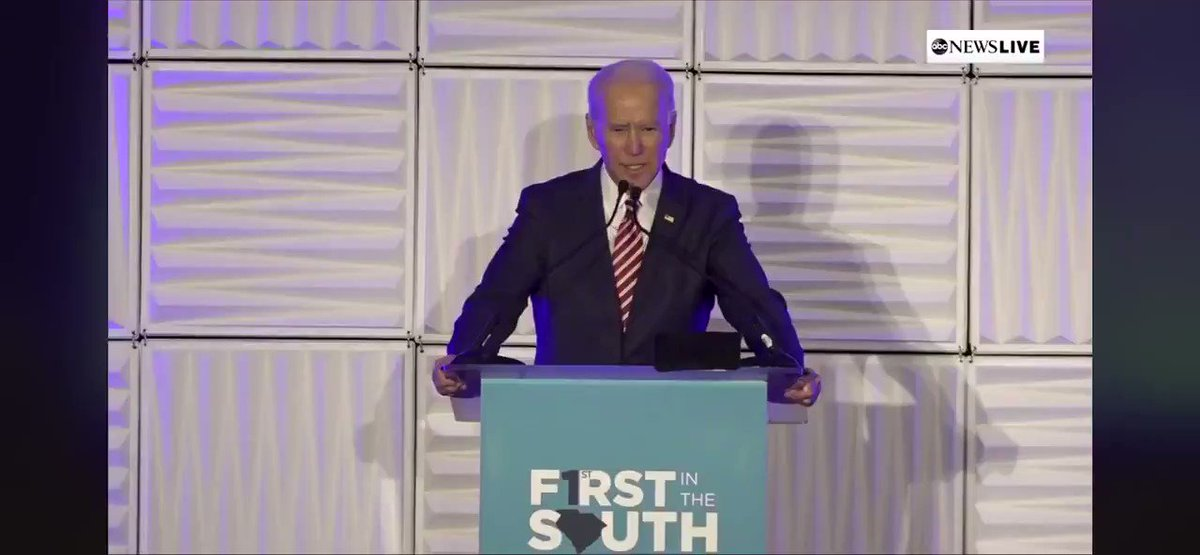 "This is so sad.   Here @JoeBiden says to the crowd in South Carolina that he is ""running for the United States Senate"" and that if they don't like him they can ""vote for the other Biden.""  I honestly wish he would've retired & not subjected himself to the rigors of this campaign."