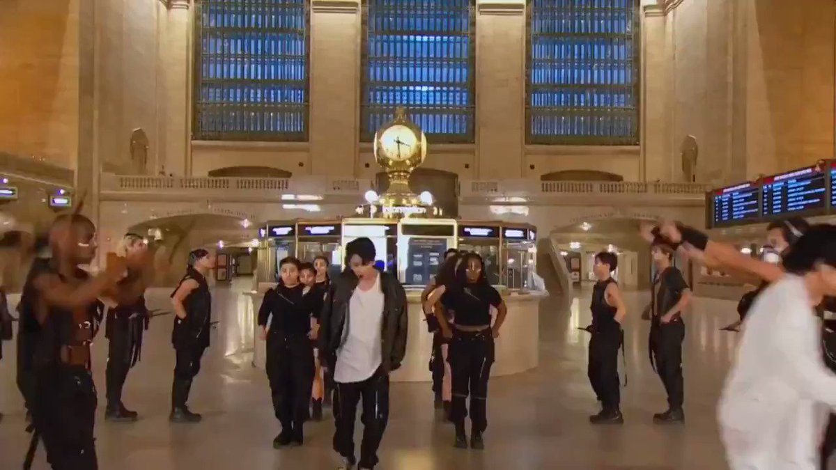 Ok @BTS_twt took over Grand Central with @jimmyfallon and it was... incredible 🥺#BTSonFallon