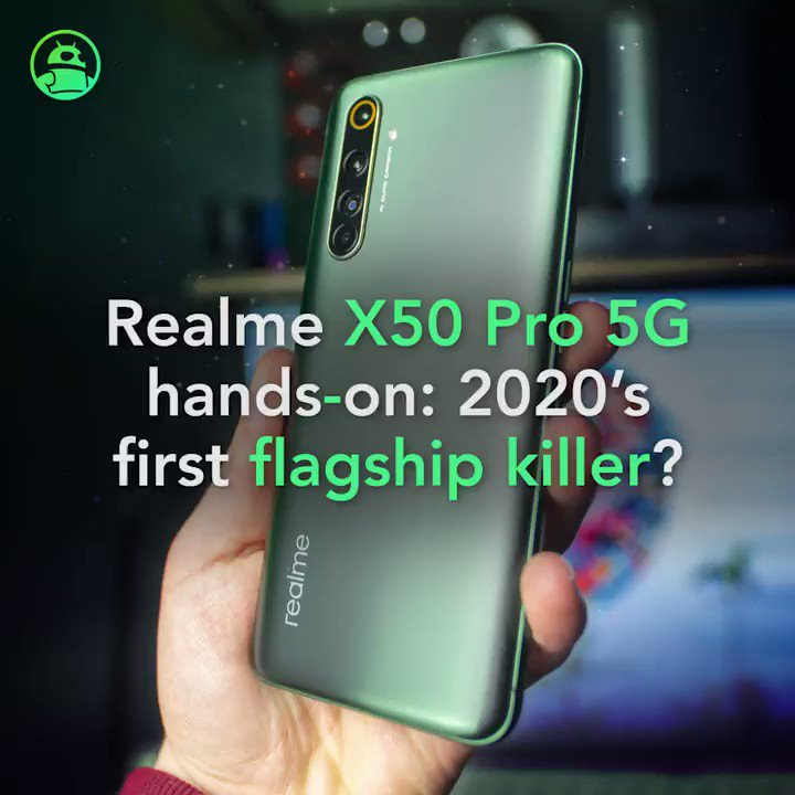Image for the Tweet beginning: Hands-on: The Realme X50 Pro