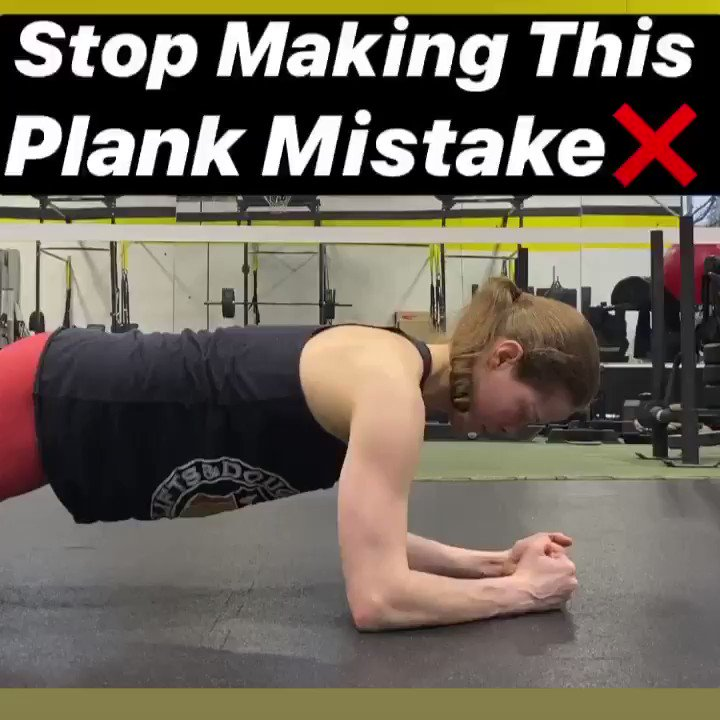 Stop Making This Mistake With Your Planks❌. When many people perform plank variations, they mindlessly hang out on their shoulders  ✅ Press your body away from the floor and protract your shoulder blades (think about spreading them apart, and moving them around your ribcage)