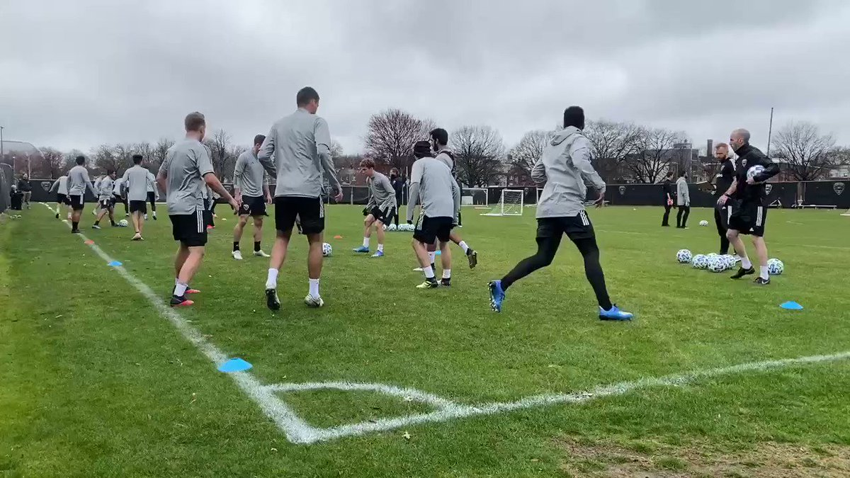 More like Swansea than DC today at #DCU training. Cold, misty, RFK lurking in the background.