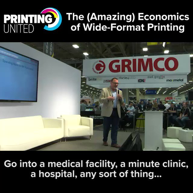 Image for the Tweet beginning: At #PRINTINGUnited, amphitheaters throughout the