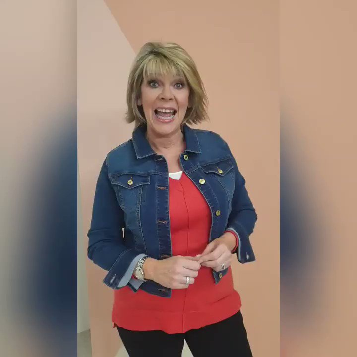 My favourite Blue Denim Jacket is back! It's super light weight, stretchy and perfect for layering as we head into spring… It's available NOW so don't miss your chance! Click the link for more bit.ly/32xrMKg @qvcuk #ruthlangsfordfashion#denim#jacket #ad