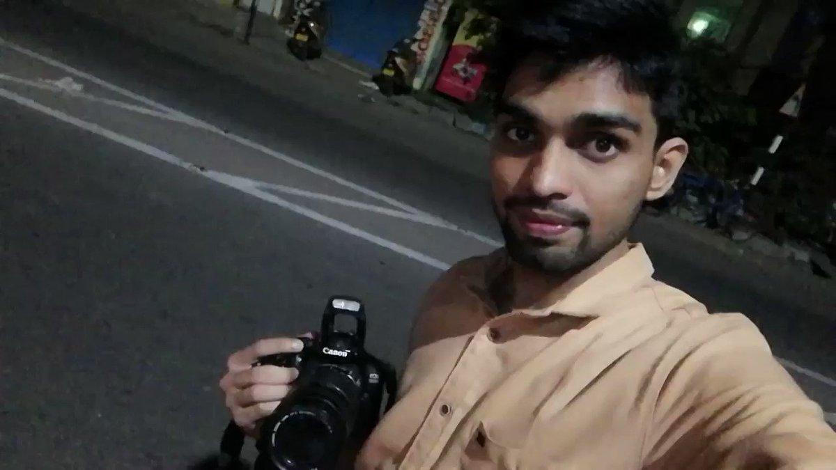 After a long Time ❤️😍 #MidNight #Photography @PriyaRaaga Akka 👰💙 Gifted Cam 😘😘 #BezawadaRoads 😎😎 – at Autonagar Bus Stand