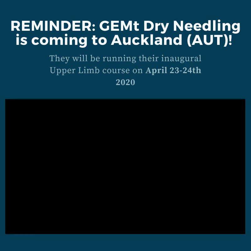 Image for the Tweet beginning: Reminder: GEMt Dry Needling is