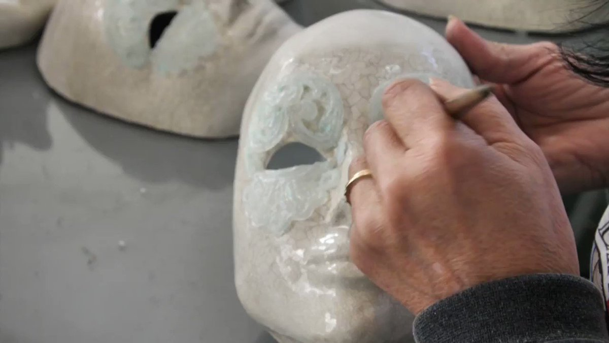 VIDEO: In a quiet studio in northern Albania, artists paint, gild and bejewel tens of thousands of Venetian masks that revelers worldwide have been donning for carnival season. Some 50 staff hand-craft the pieces from their factory in lakeside Shkoder u.afp.com/3U9f