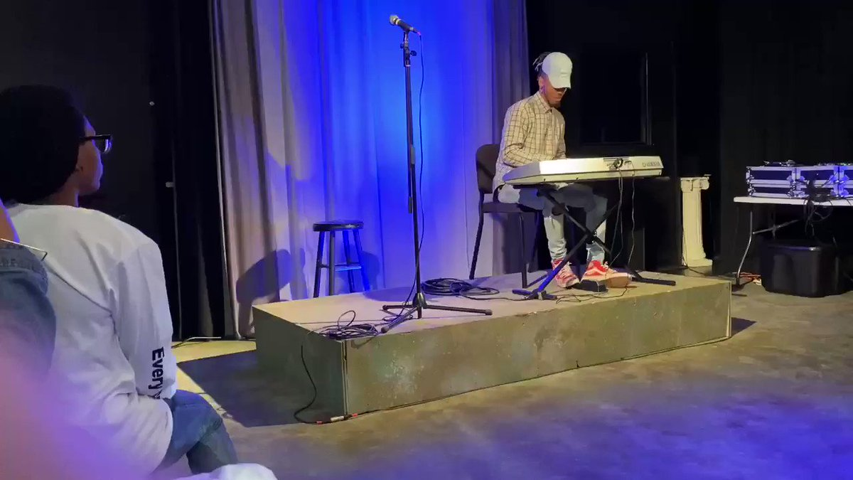 A small snippet of one of our own Board members, @DreadwayJay, performing at at NCTC's Black Box show!