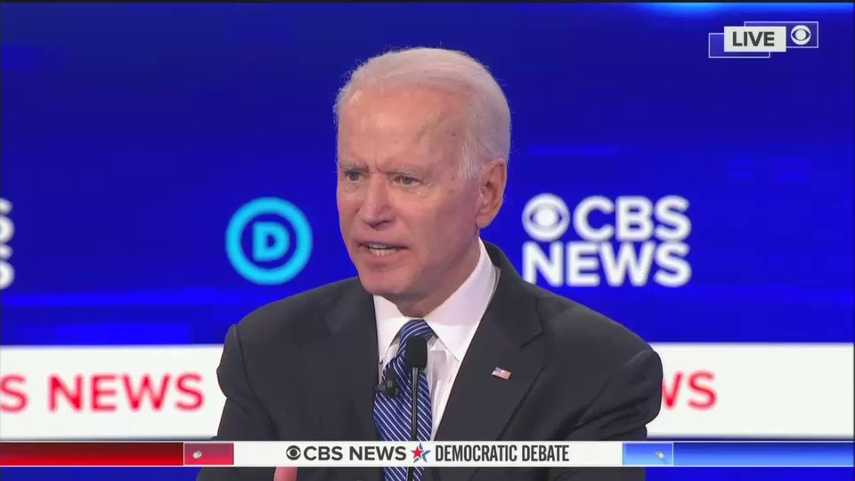 Joe Biden is the only candidate who actually offered a plan to deal with the Coronavirus. #DemocraticDebate2020 #DemDebate