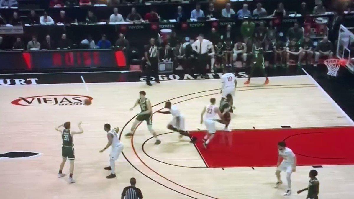 Ref calls five seconds on Colorado State after barely counting to four seconds