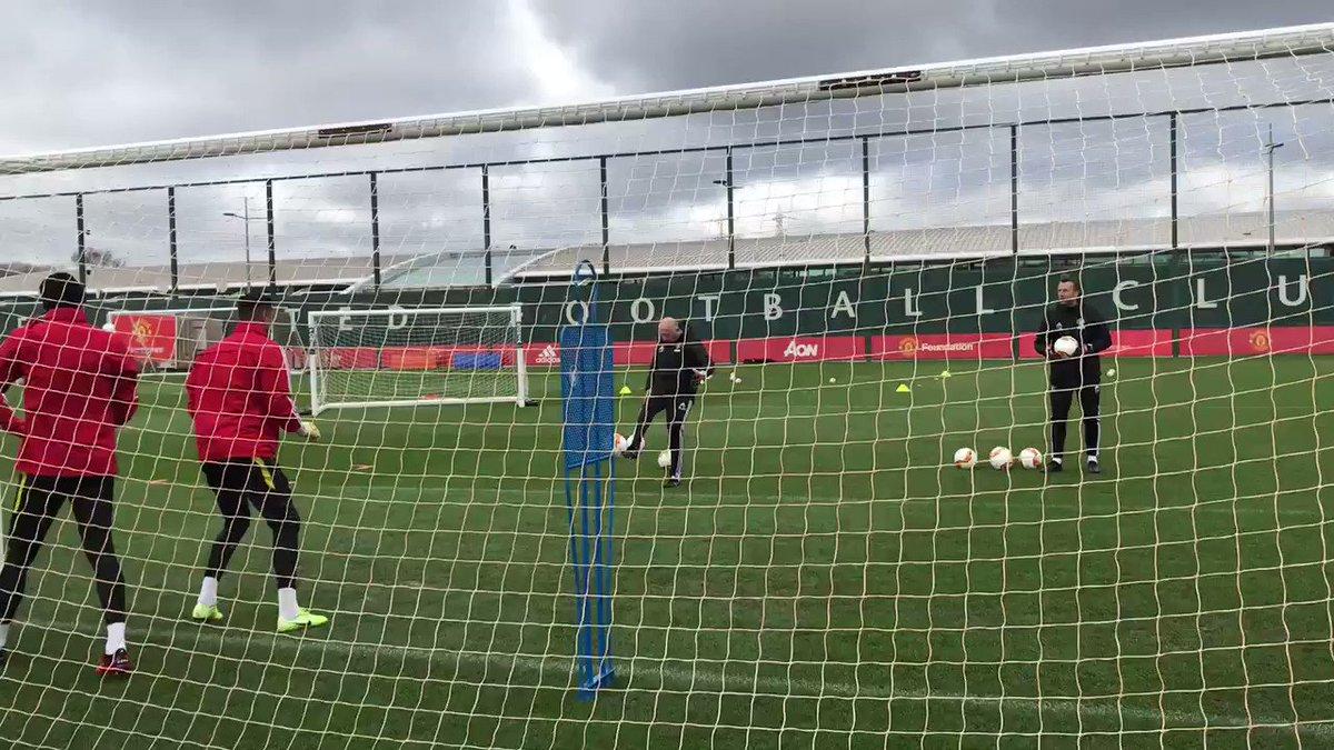 De Gea, Romero and Bishop training #mufc