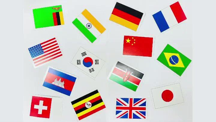ルルチャイの英語&歌体操プログラムにても、子ども達と一緒にやっている歌国旗かるた♬ 英語&日本語で聴いて歌って、国旗を探してみよう! #世界国旗の歌 #国旗 #worldflags
