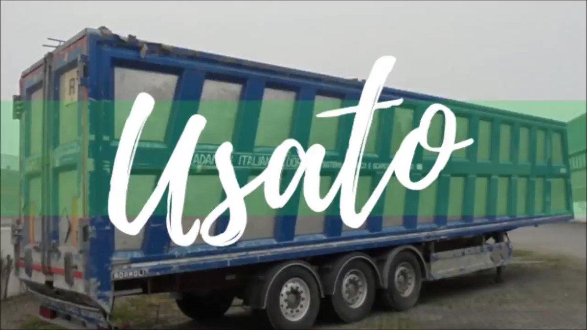 Buon Pomeriggio! ☀  Eccoci con il nostro #MercolediDellUsato 🚛   #semirimorchio #Adamoli 🚚 a 3 assi, furgone in #alluminio con porta posteriore a due battenti, copertura a tetto fisso e #pianomobile a 12 #doghe.   #Adamoli #usato #semiremorque #usato #work #waste #rifiuti