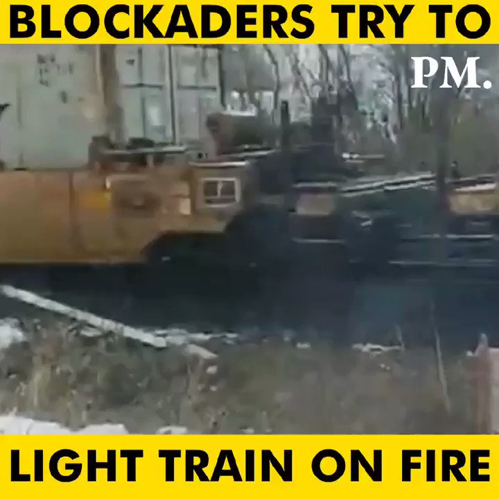 WATCH: Anti-pipeline protestors are resorting to extreme lengths, including trying to light a train on fire. #cdnpoli #ShutCanadaDown