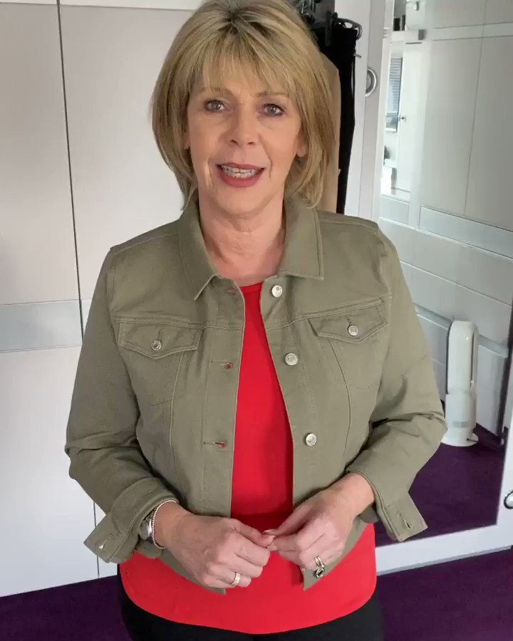 My Cotton Twill Jacket is finally here! It's the same shape, style and fit as my best selling denim jacket. Available in black and khaki (which I'm wearing) with 3 easy pays on the @qvcuk website while stocks last. Click here to shop: qvcuk.com/Ruth-Langsford…