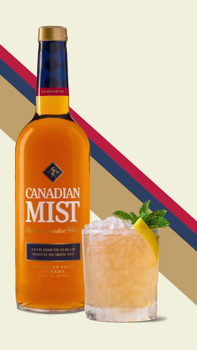 When life gives you lemons, make a Mint Julep. Then add lemons.   1.5 oz Canadian Mist Whisky Splash Maple syrup 4 Mint leaves Lemon wedge  #WhiskySmash #CocktailRecipes https://t.co/FBO6QyMzKm