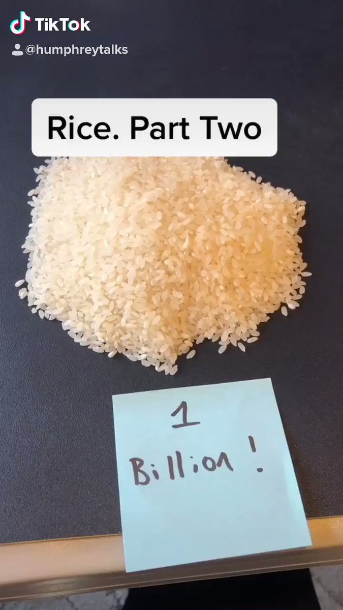 Rice. Part two: Jeff Bezos net worth represented visually by rice.
