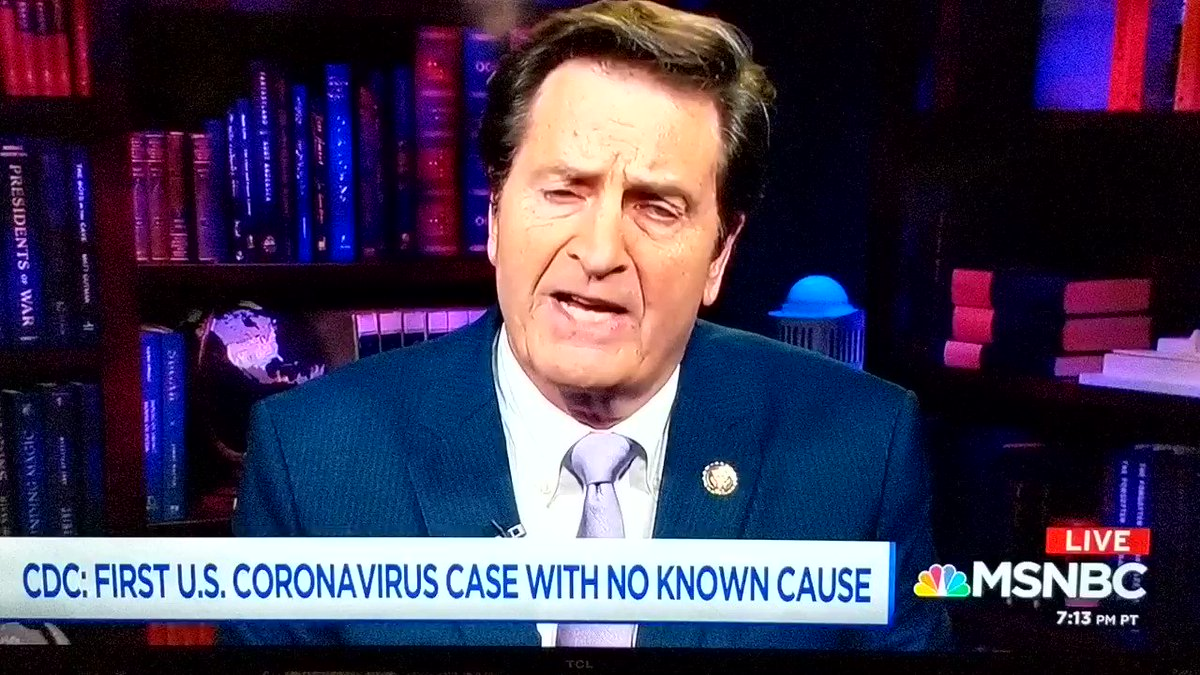 Korea has tested 35,000 people & plans to test 200k. But the CDC refuses to make tests available here. The congressman at ground zero, is rightly angry. Our medical people have been exposed and we can't even test them.