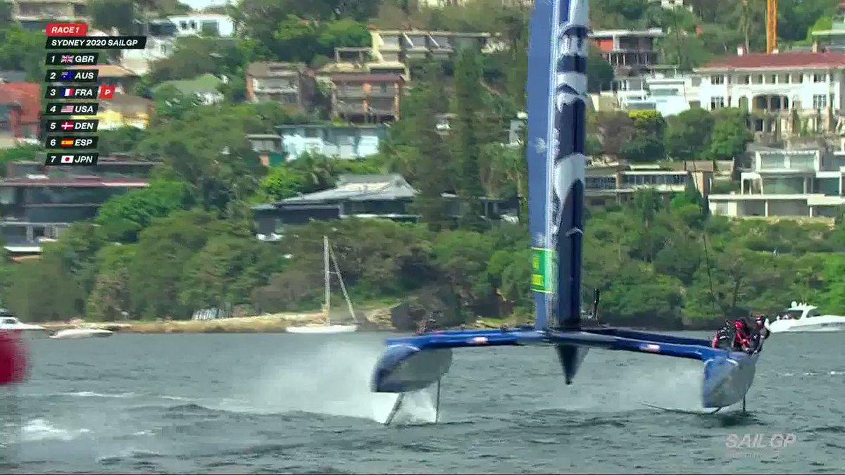 Image for the Tweet beginning: Turbo around @SailGPDEN at top