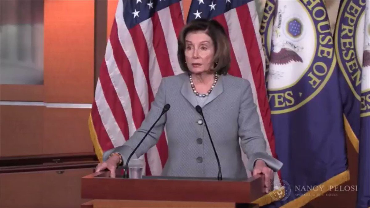 Speaker Pelosi threw 🧊 ice water 🧊 on Trump blaming Dems for stocks falling: [He] said something so strange... He said the reason the market dropped is because of the debate... The market dropped 1,800 pts before the debate [and] while he was speaking... #coronavirus