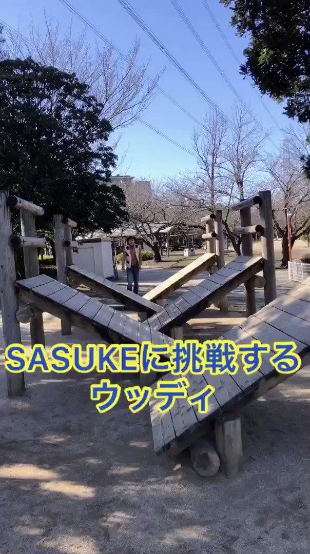 SASUKEに挑戦するウッディ#トイストーリー
