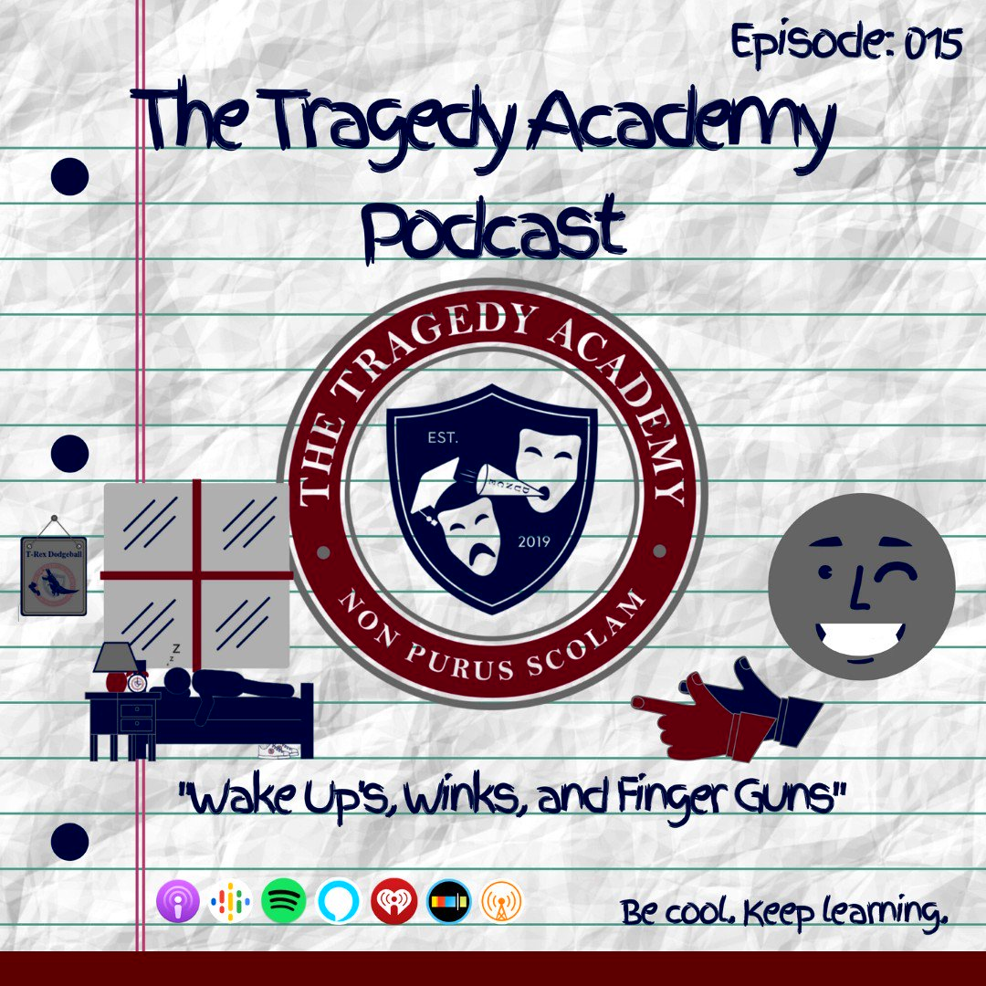 "New Episode! EP 015 ""Wake Ups, Winks & Finger Guns""  My Emails Are Frowny  🎧  🌐   #thetragedyacademy #podernfamily #podcast #podcasts #memes #share #funny #happy #like4like #follow #crypto #smile #nofilter #technology"
