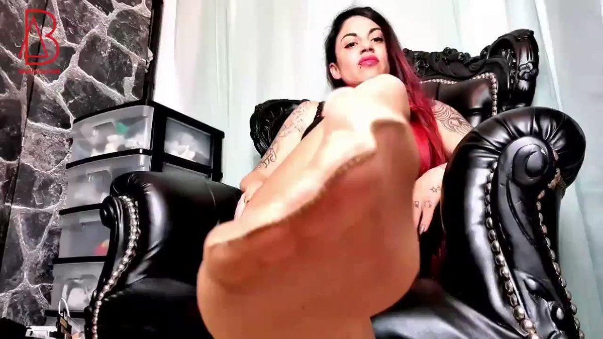Mistress Emily Long Legs In Black Stockings