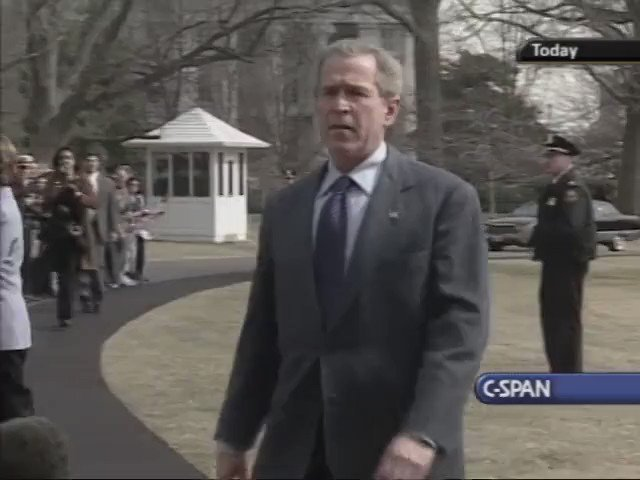 """Feb 29, 2004 - 16 years since the US-France-Canada coup in #Haiti  War Criminal George Bush after the coup  """" JB Aristide has resigned""""=Kidnapped by US Marines at gunpoint, forced to sign a resignation letter, and transported 6,300 miles away to the Central African Republic https://t.co/ng2nLu7pGe https://t.co/63RQ1WIyMi"""