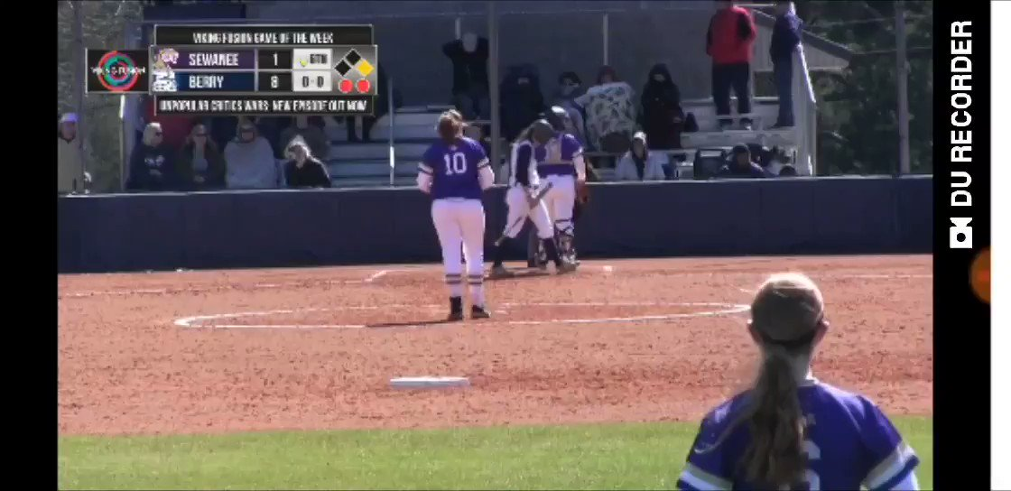 🥎 @BerrySoftball beats Sewanee 10-1 and 9-1 to open their SAA slate...  Here's how Game 1 ended, courtesy of a @madisonmorgan_1 💣