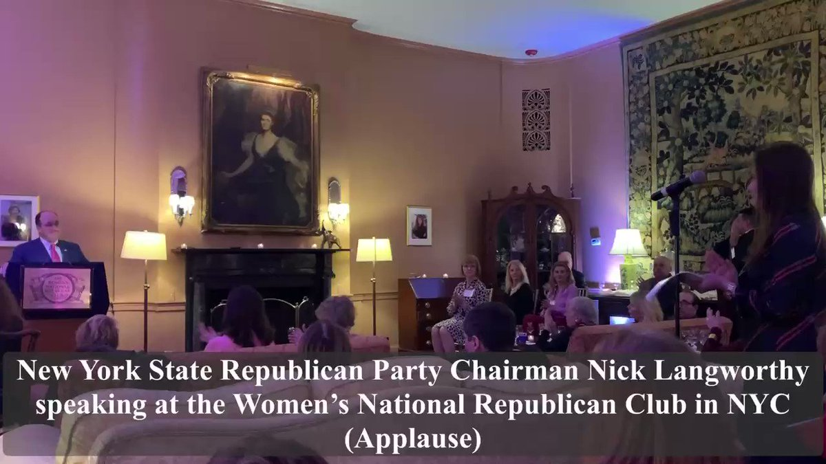As the only candidate endorsed by @Manhattan_GOP, @KingsCountyGOP & @BKConservatives against Nadler in #NY10 I'm honored to receive @NewYorkGOP State Chairman @NickLangworthy's endorsement at @WNRC1921 last night! Thank you Chairman, w/your leadership, we'll #FlipNYRed!