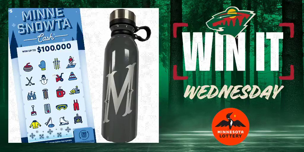 🎊 Say I'MN to #WinItWednesday. 🎊  RT for a chance to win a #mnwild water bottle, $50 in @mnlottery scratch 🎟 and more!  Rules: