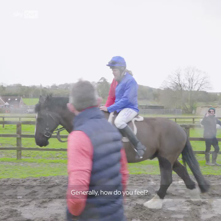 """""""Yeah, boy! Let's get over the fence, hey!"""" 🗣️🤣  We put @jimmybullardon the back of a horse for the first time in his life & results were hilarious. 🏇 #ChangingPlaces #CheltenhamFestival https://t.co/v84PLx03nx"""