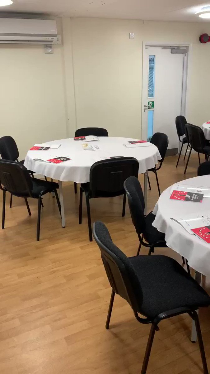 Conference suite all set up and ready for Rosenshine day with @teacherhead! Excited and looking forward to it 😃