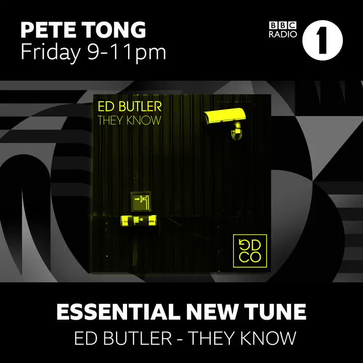 🚨🚨🚨massive love to @petetong for making They Know this weeks #essentialnewtune on @BBCR1 tune in from 9pm ⚡️⚡️⚡️