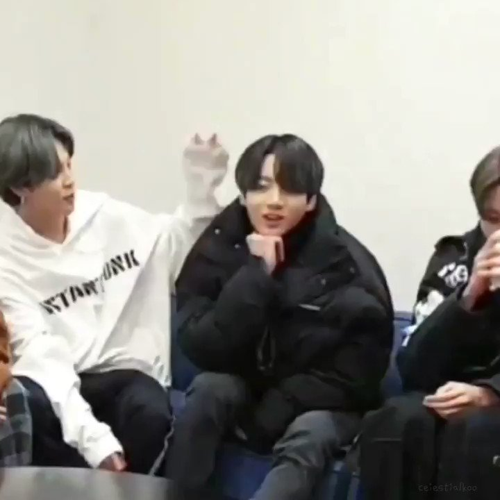 bts petting their jungkook because it's what the tl needs