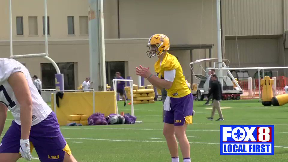 First look at #LSU QB @qbmjohnson2020 at spring practice.