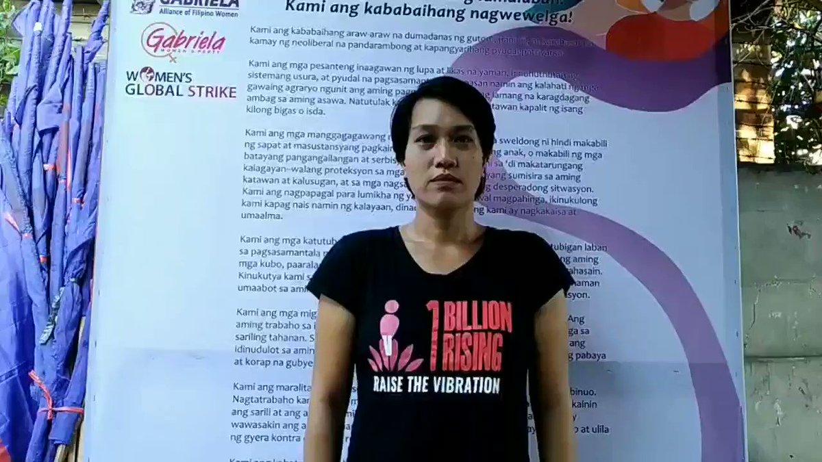 Joms Salvador joins the strike on #IWD2020 #DefendFilipinoWomen #DefendGabriela #WomensGlobalStrikepic.twitter.com/Jj88msgrSF
