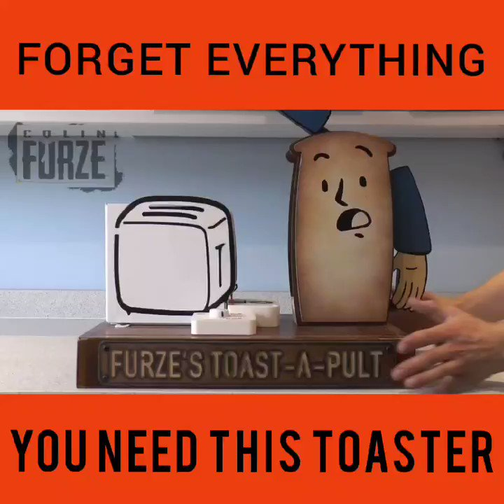 Fancy a challenge, want some action in the morning you need this toaster.  #colinfurze  #toast  #catapult #fun #household  #appliances