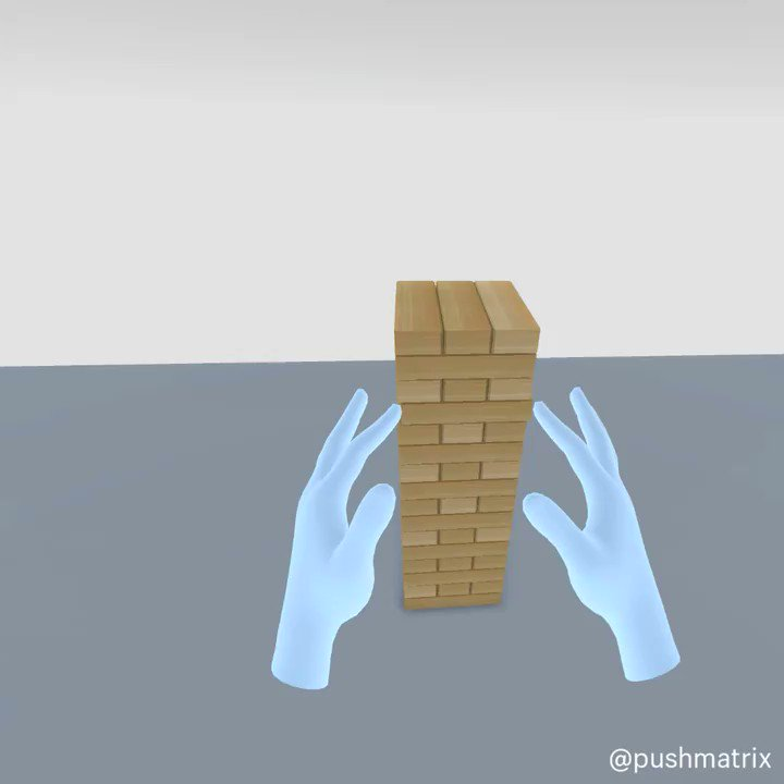 Its VR Jenga but your fingers get longer after every move. You in?