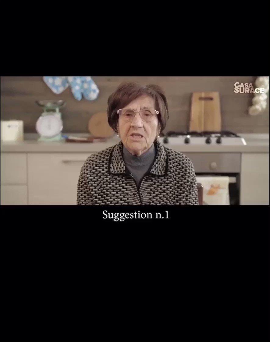 ❤️❤️❤️ To beat #Covid19, listen to this Italian grandma.