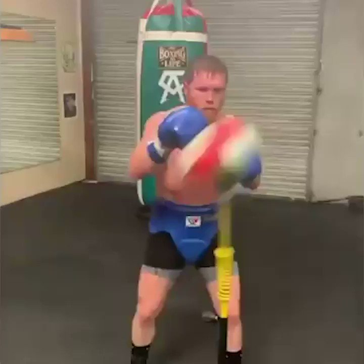 Canelo creating music on the bag 🎶 Effortless hand-eye coordination 😍